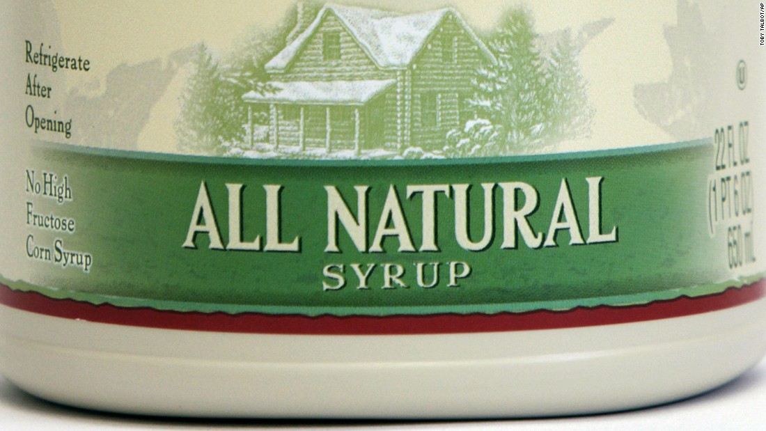 All natural syrup label