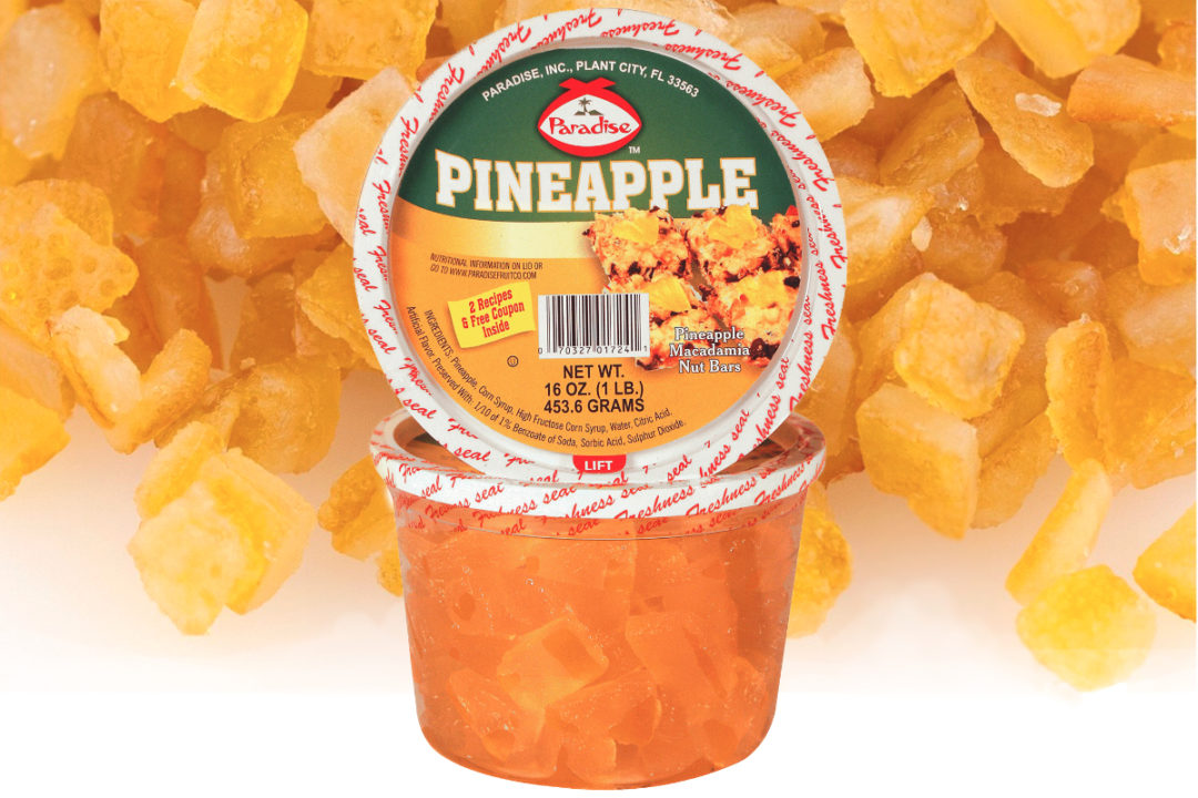 Paradise Fruit Co. candied pineapple