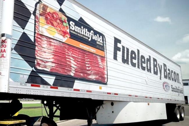 Smithfield Foods bacon truck