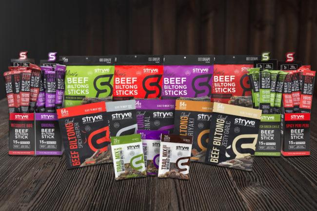 Stryve Biltong meat snacks portfolio