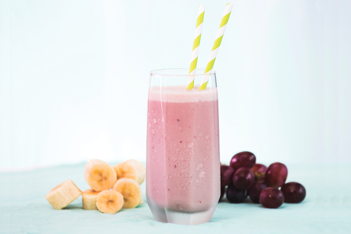 Welch's grape banana smoothie