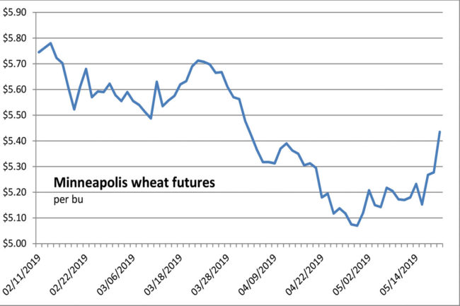 Minneapolis wheat futures chart