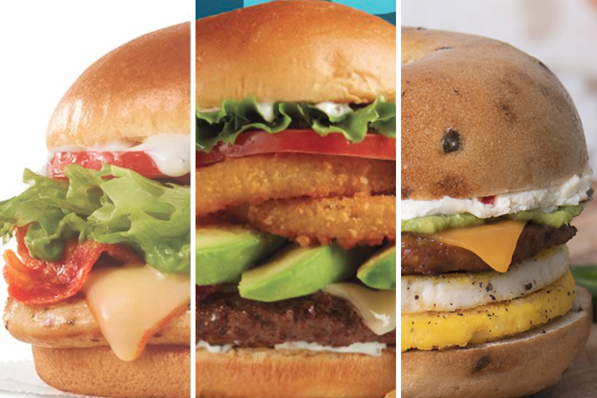 Avocado-centric menu items from Wendys, Johnny Rockets and Brueggers Bagels