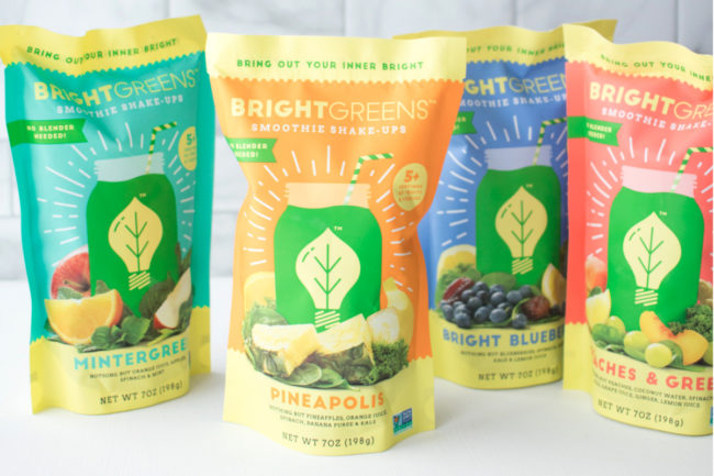 Bright Greens smoothie cubes
