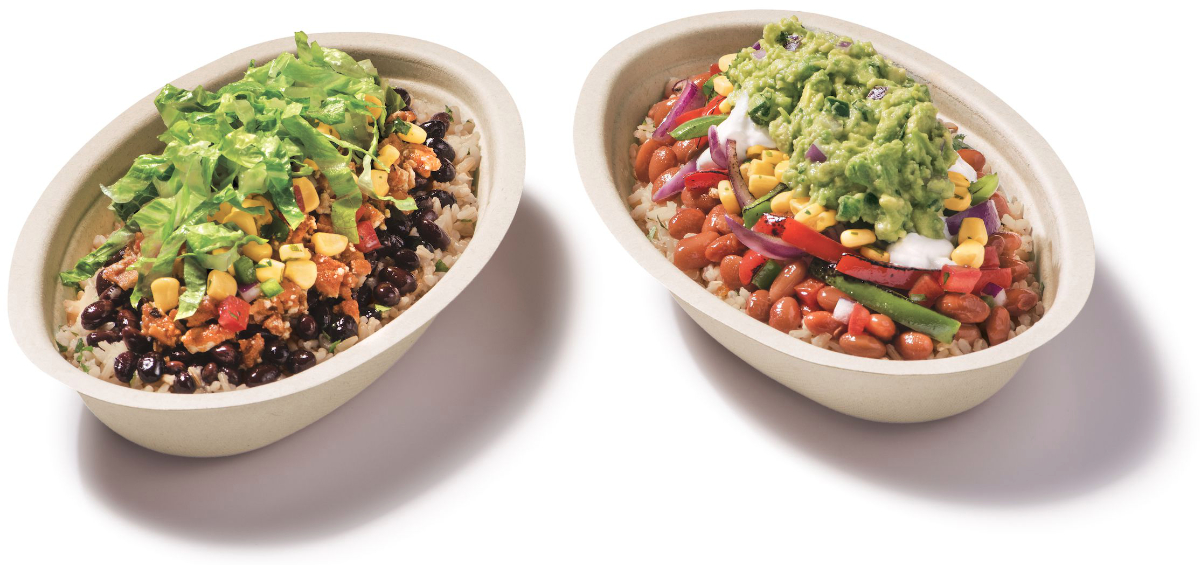 Chipotle vegan and vegetarian Lifestyle Bowls