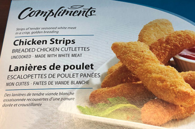 Compliments chicken strips