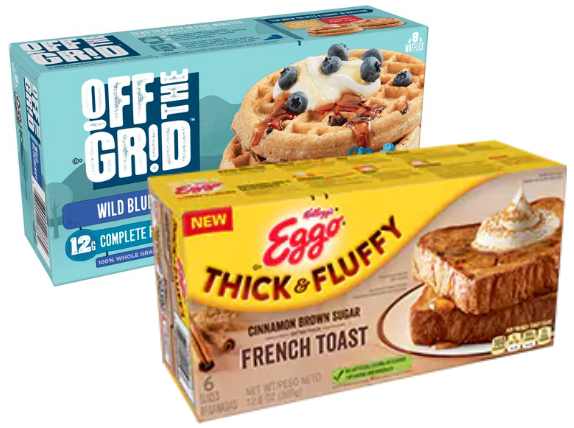 Off the Grid frozen waffles and Eggo French toast, Kellogg