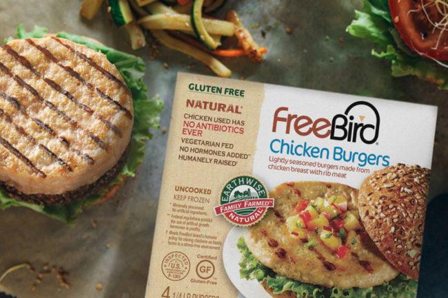 FreeBird chicken burgers, Hain Pure Protein