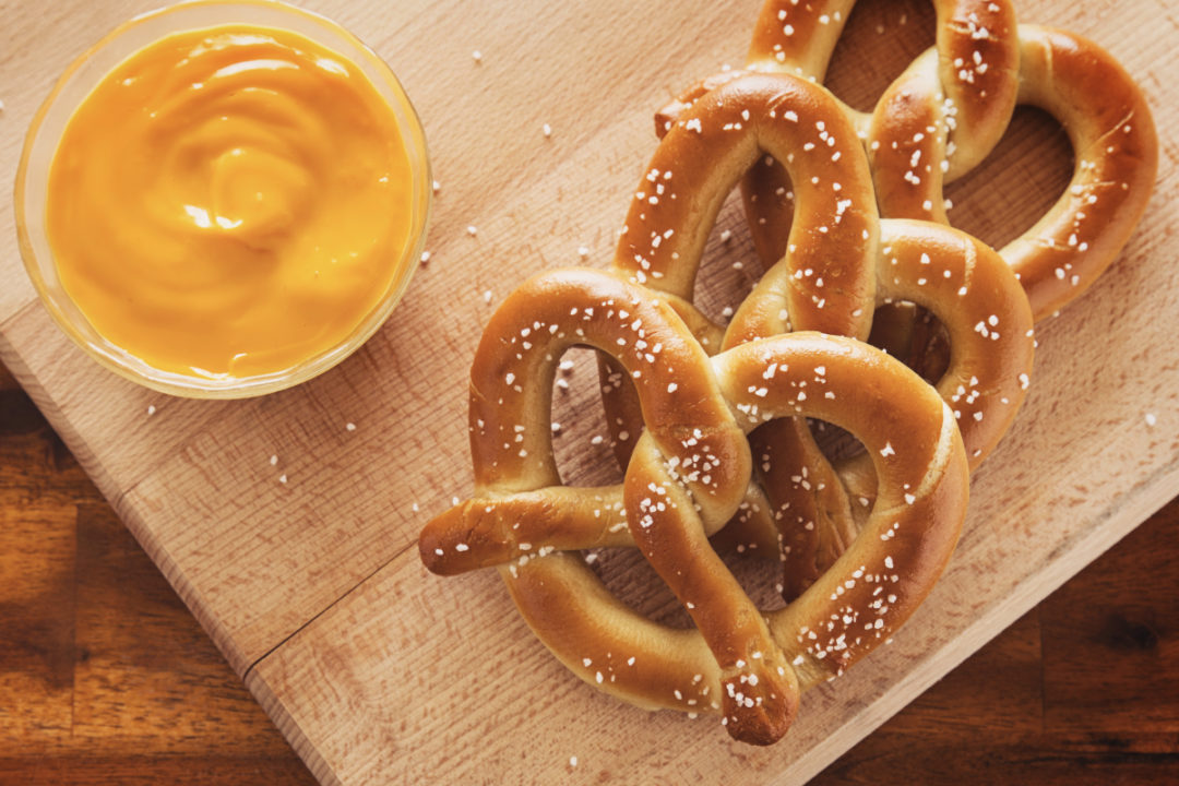 J&J Snack Foods soft pretzels with cheese