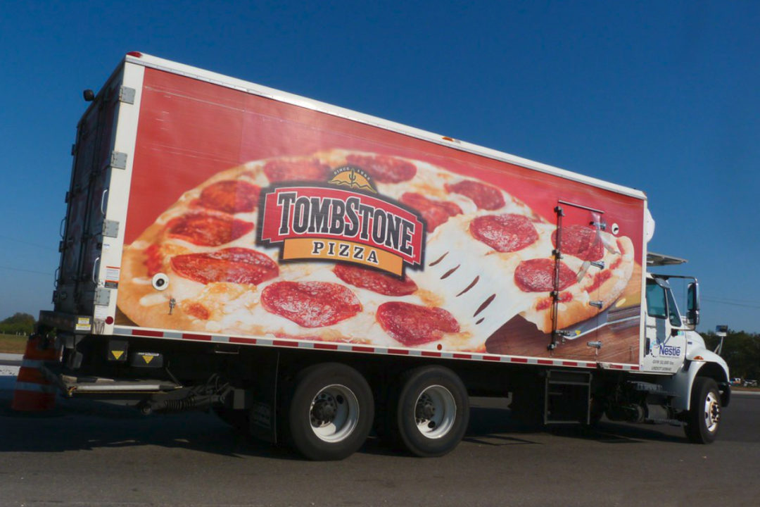 Nestle direct store delivery Tombstone Pizza truck