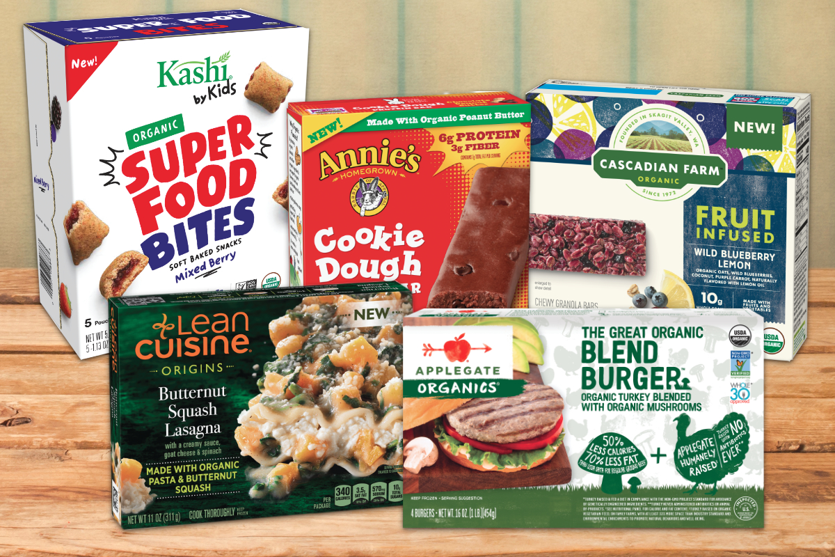 Organic snack foods and frozen foods