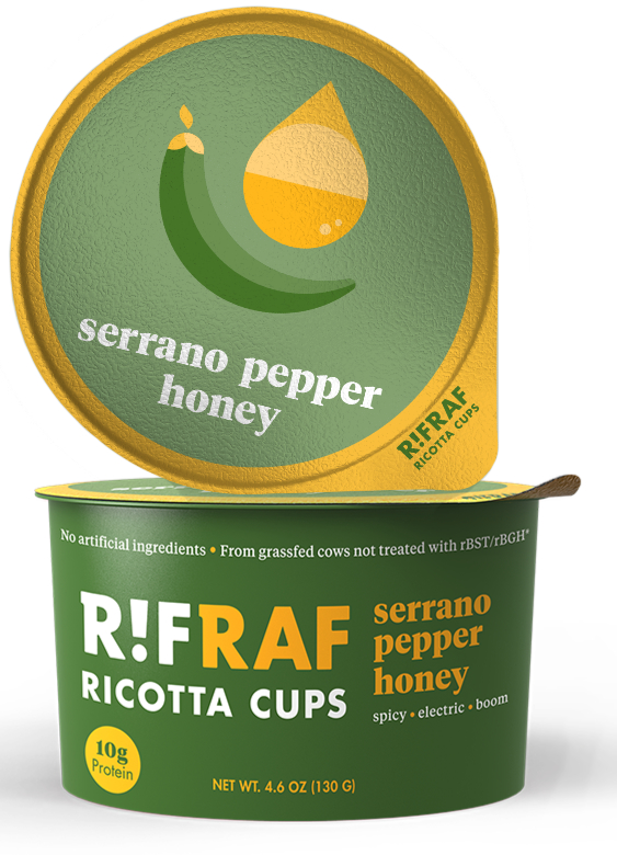RifRaf ricotta cups - serrano pepper and honey