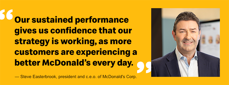Steve Easterbrook quote, McDonald's