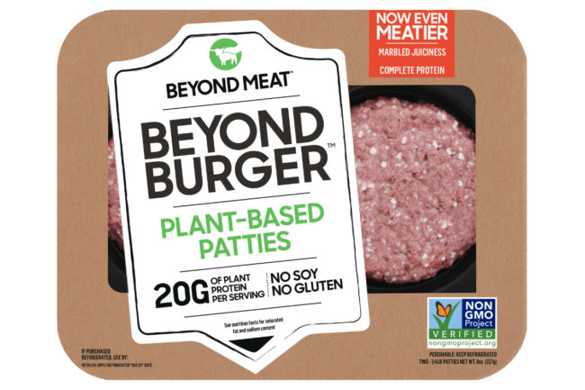 new beyond burger meatless plant-based burger