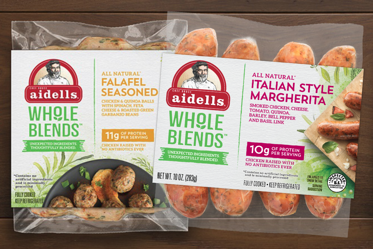 Aidells Whole Blends sausages and meatballs, Tyson Foods