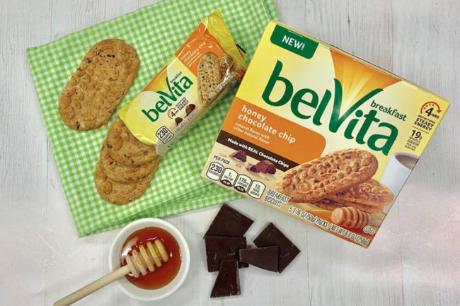 belVita honey chocolate chip breakfast biscuits, Mondelez
