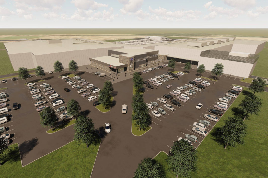Ben E. Keith Foods distribution center rendering
