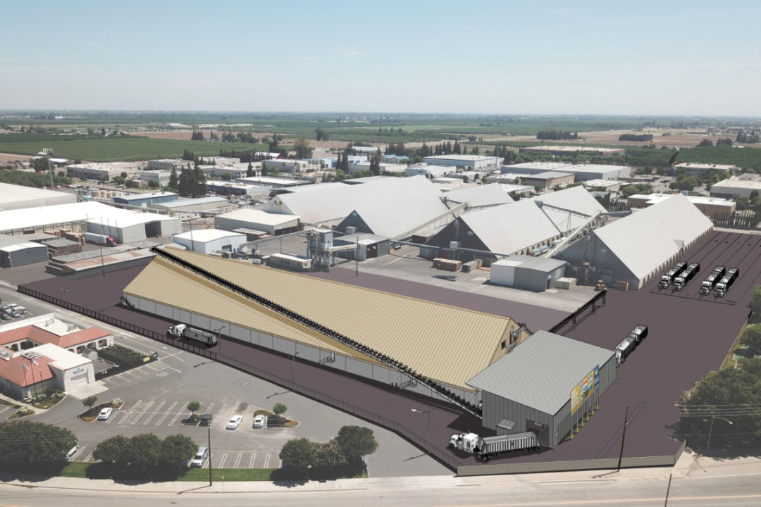 Blue Diamond Growers Salida warehouse rendering