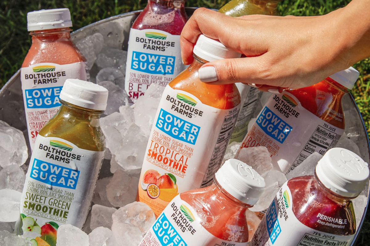 Bolthouse Farms lower sugar smoothie beverages