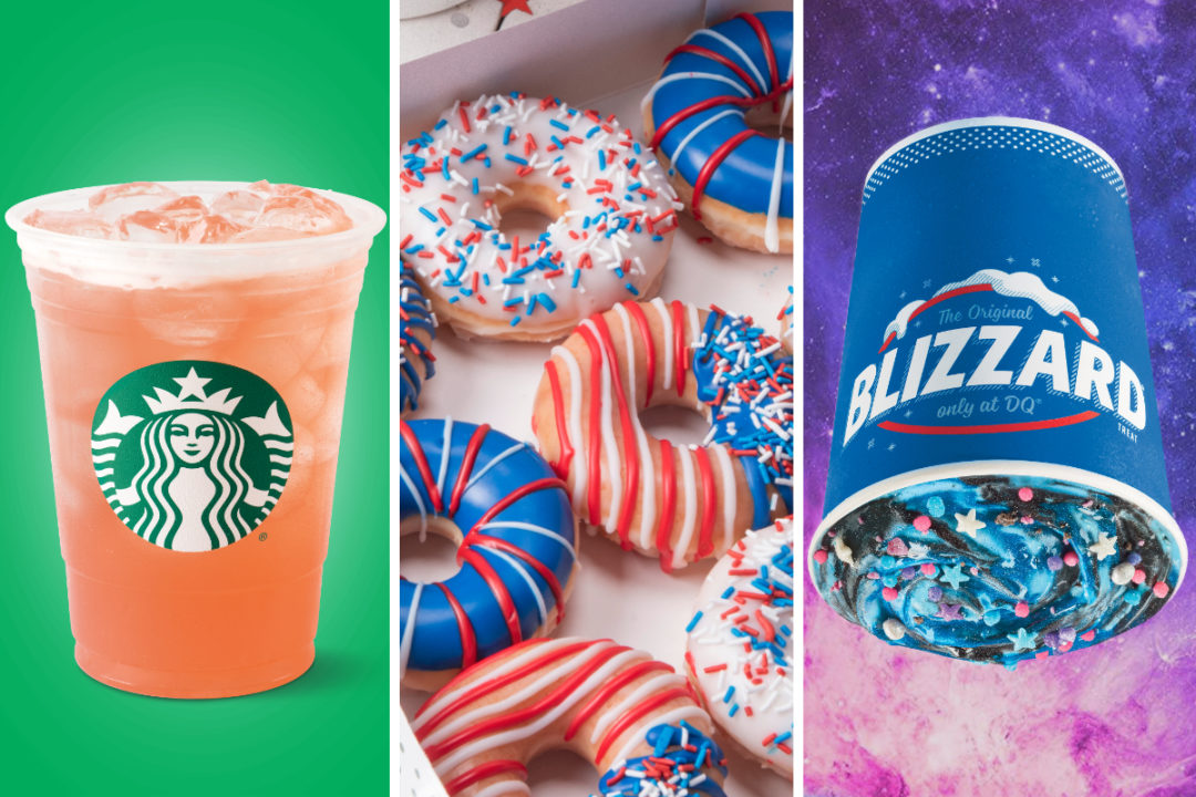 New colorful menu items from Starbucks, Krispy Kreme and Dairy Queen