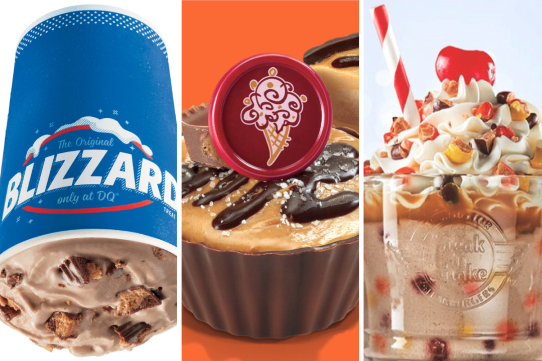 desserts from Dairy Queen, Cold Stone, Steak 'N Shake