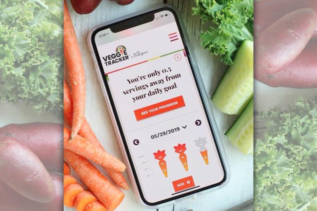 Dr. Praeger's Veggie Tracker app