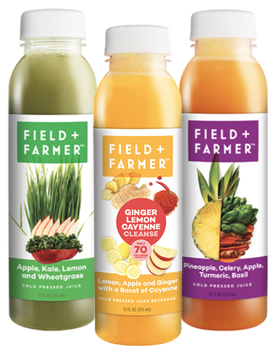 Field + Farmer pressed juices