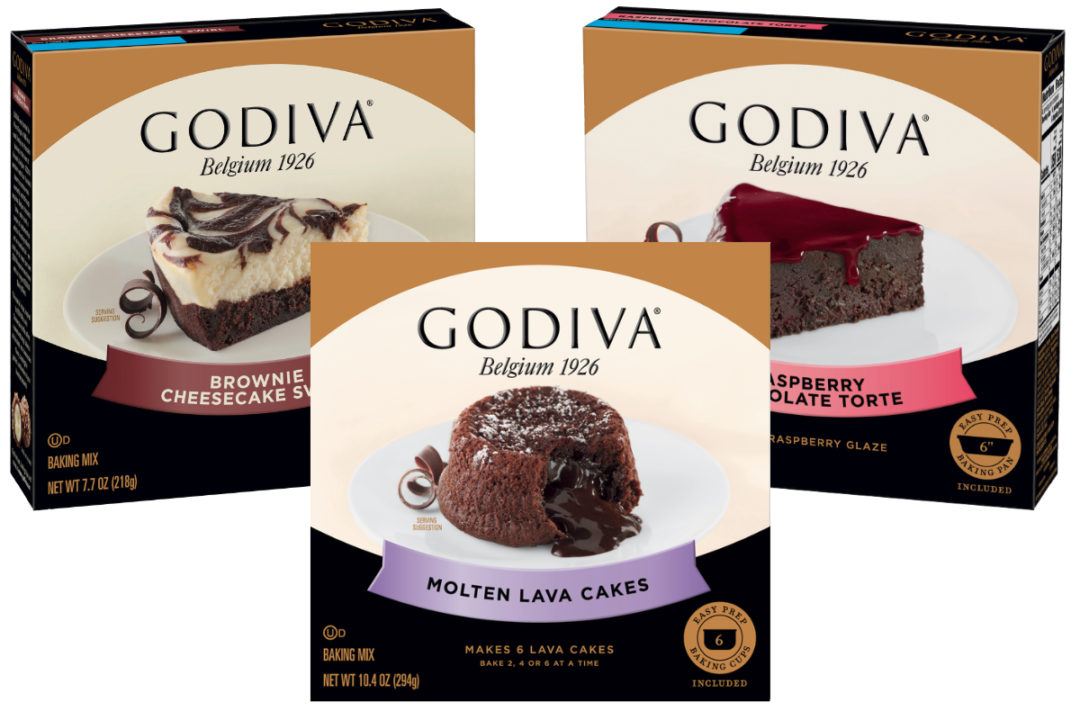 Godiva General Mills baking mixes