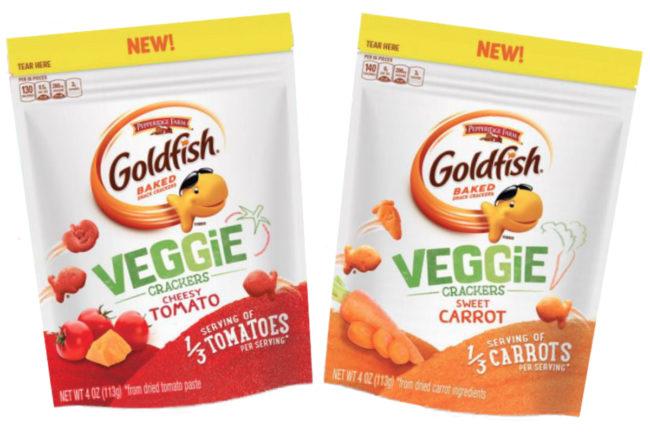 Goldfish veggie crackers