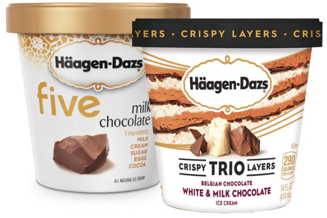 Häagen-Dazs Trios and Five ice cream, Nestle