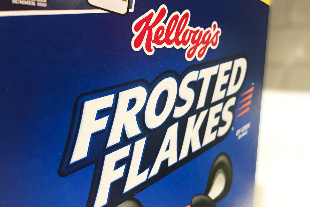 Kelloggs Frosted Flakes cereal box