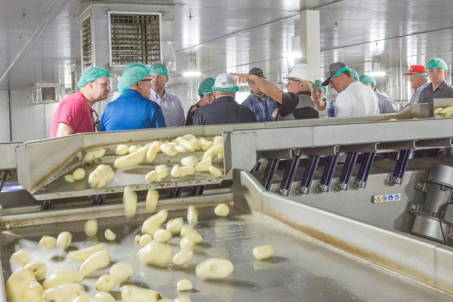 McCain Foods potato processing tour in Burley, Idaho