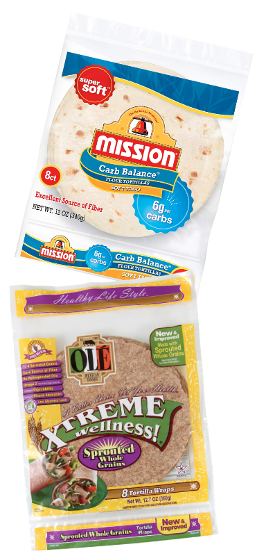 Mission Carb Smart and Xtreme Wellness tortillas