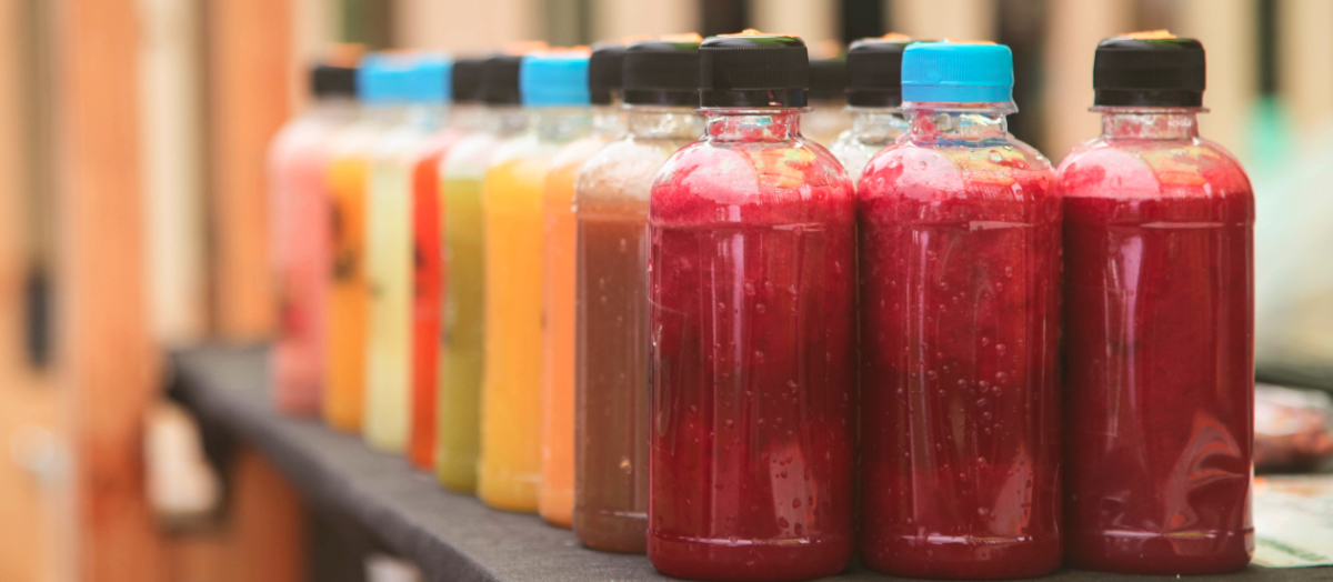 Bottled cold-pressed juices
