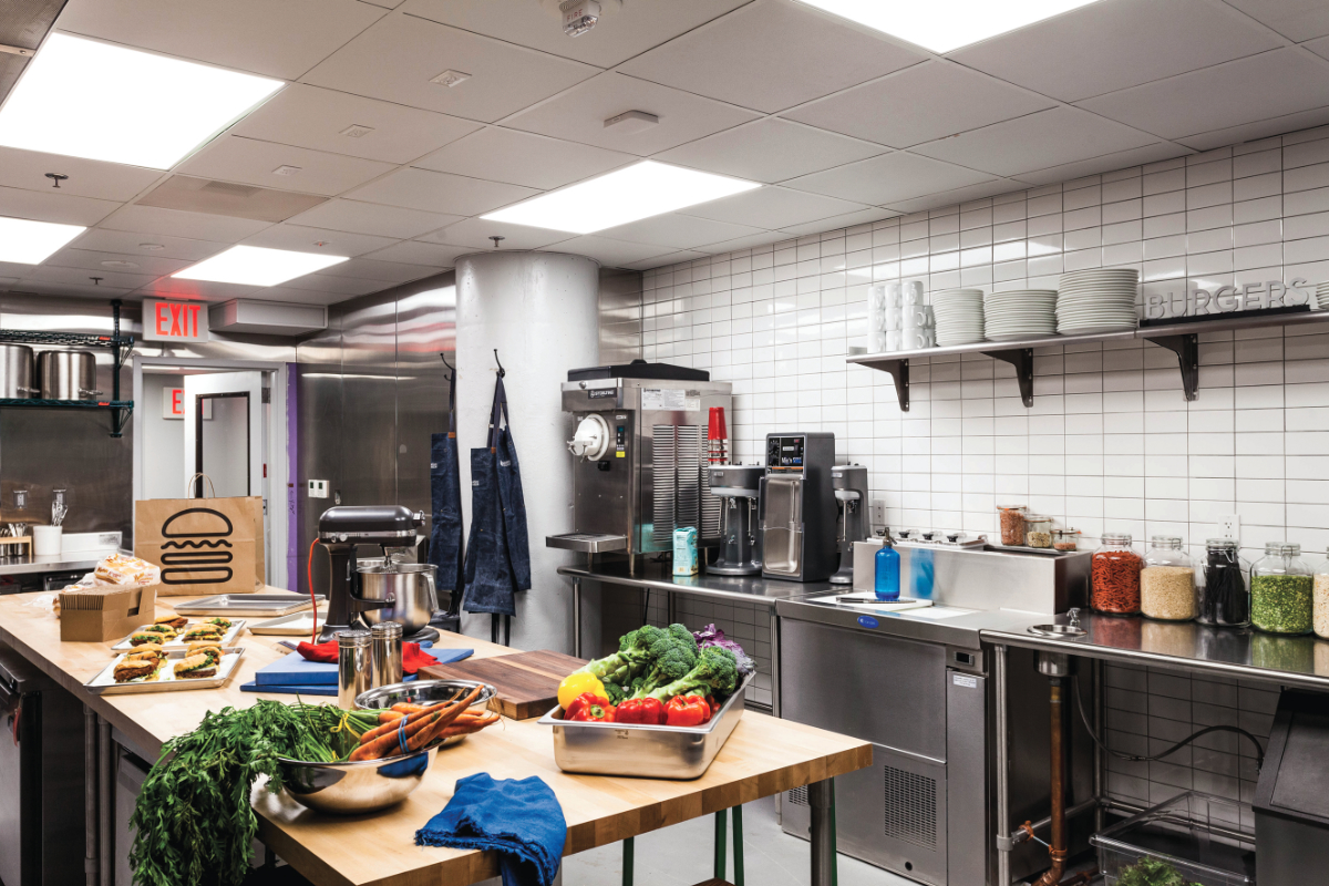 Shake Shack Innovation Kitchen inside
