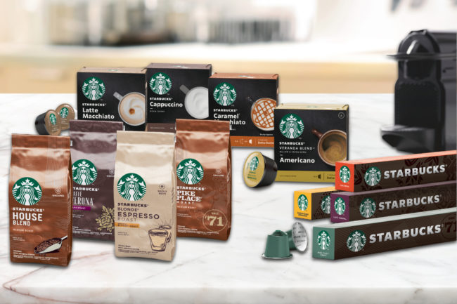 Nestle Starbucks coffee products