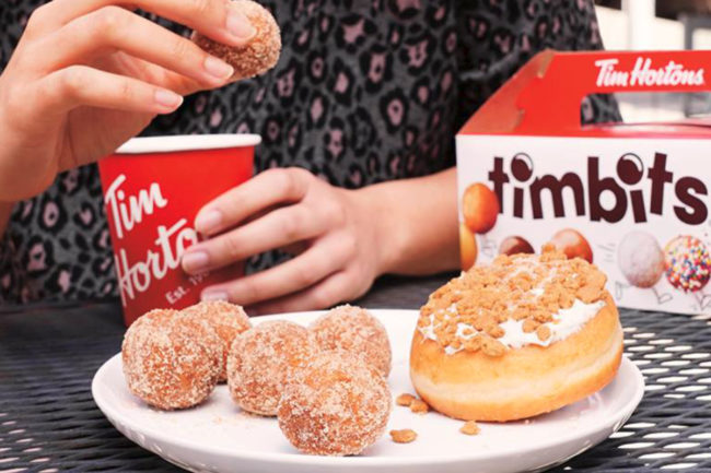 Tim Hortons coffee and Timbits