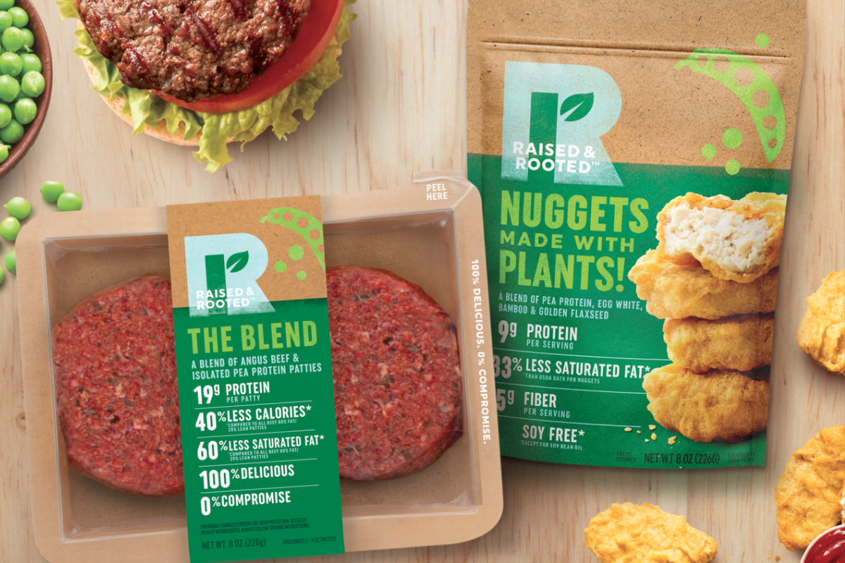 Raised & Rooted plant-based and blended products, Tyson Foods