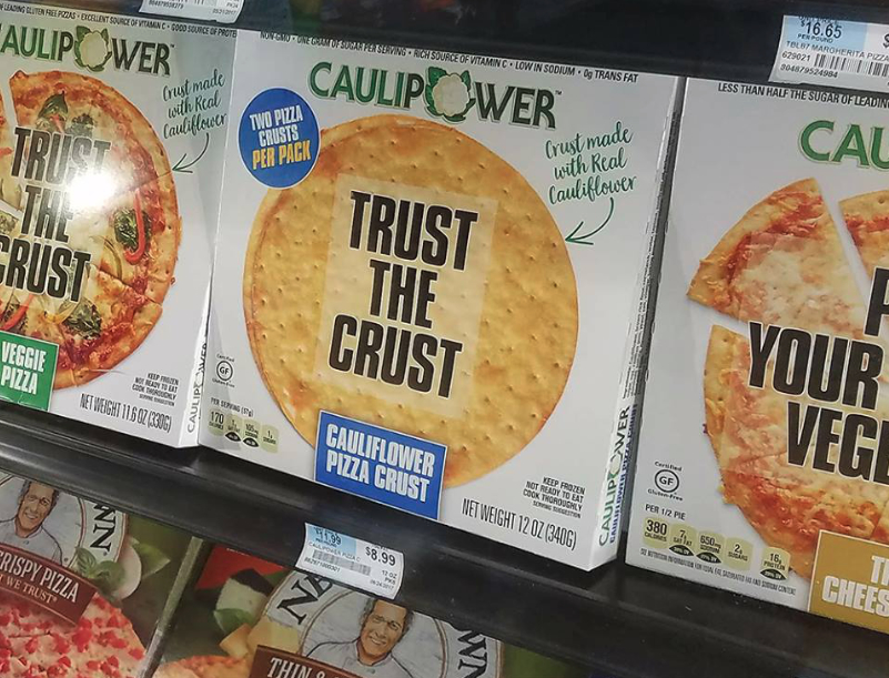 Caulipower on shelves at Walmart