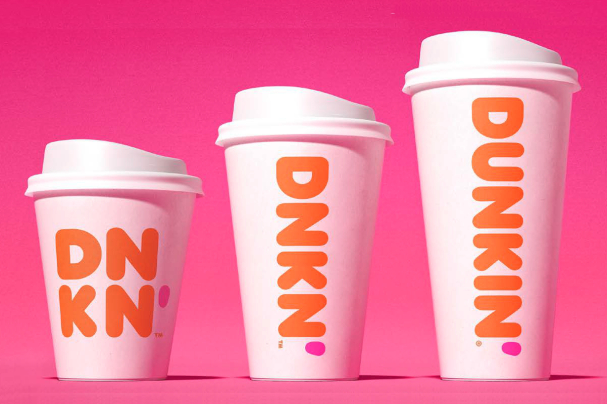 Dunkin double-walled paper cups