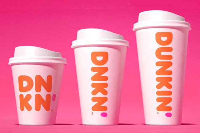 Dunkin' double-walled paper cups