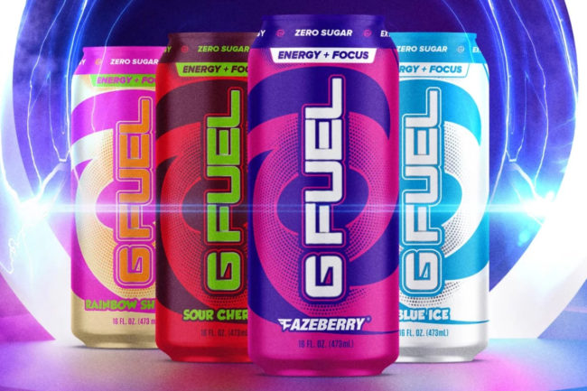 G Fuel Energy Formula ready-to-drink energy beverages for gamers