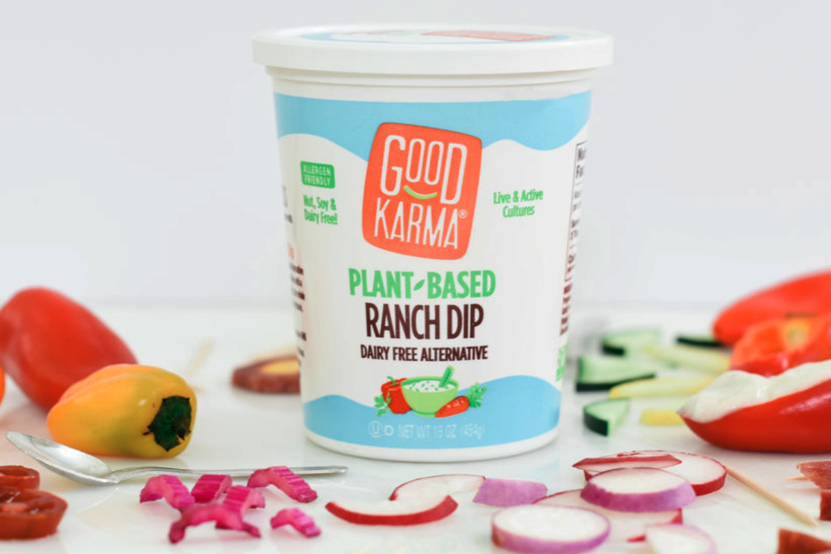 Good Karma Foods plant-based ranch dip