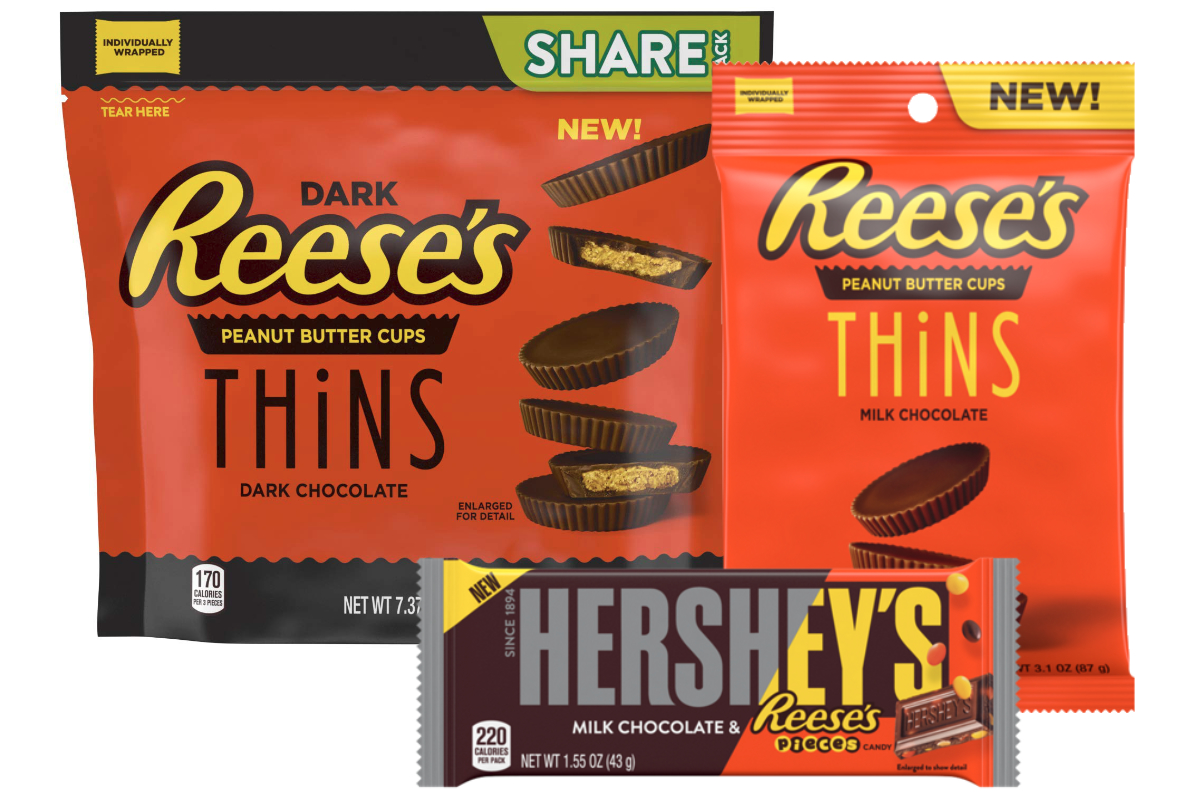 New Hersheys and Reeses products