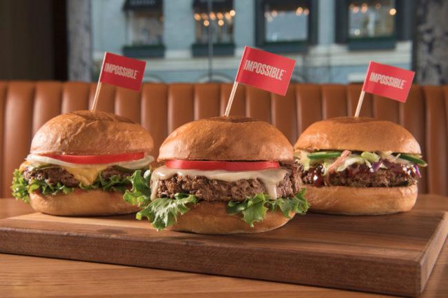 Plant-based Impossible Burgers at Umami Burger