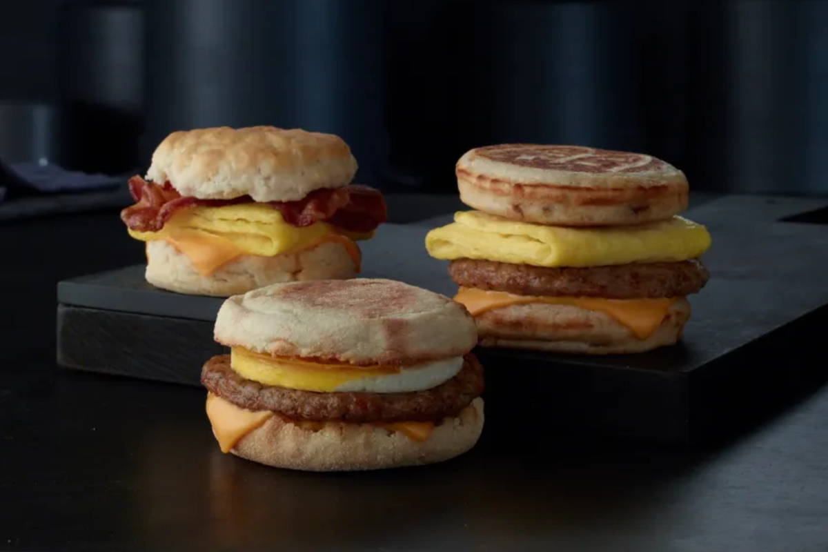 McDonald's breakfast sandwiches