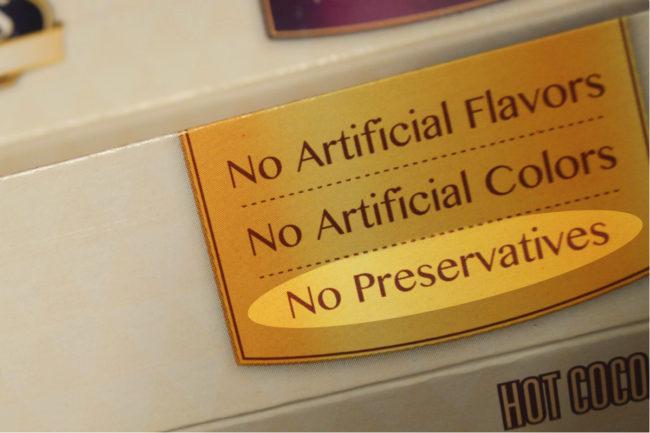No preservatives label