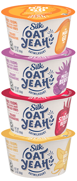 Silk Oat Yeah oat milk yogurt alternative, Danone