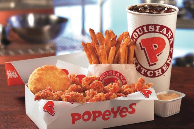 Popeyes Louisiana Kitchen meal