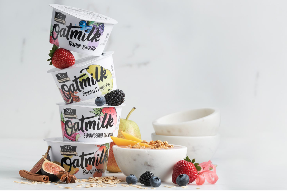 So Delicious Dairy Free Oatmilk Yogurt Alternatives, Danone